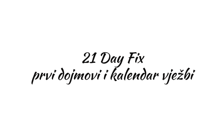 21 Day Fix program vježbanja