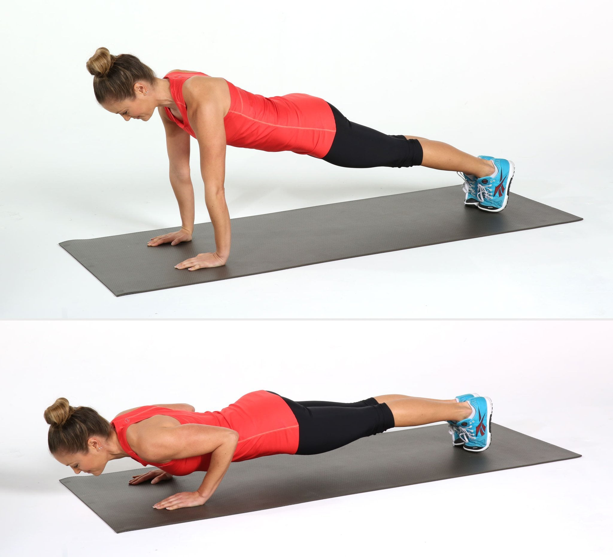 full push up on hands and toes
